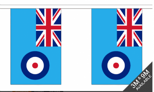 Bunting - Royal Air Force (9'' x 6'' / 15 x 22.5 cm)